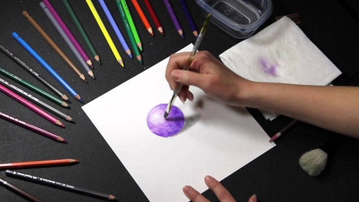 Colored Pencil Water
