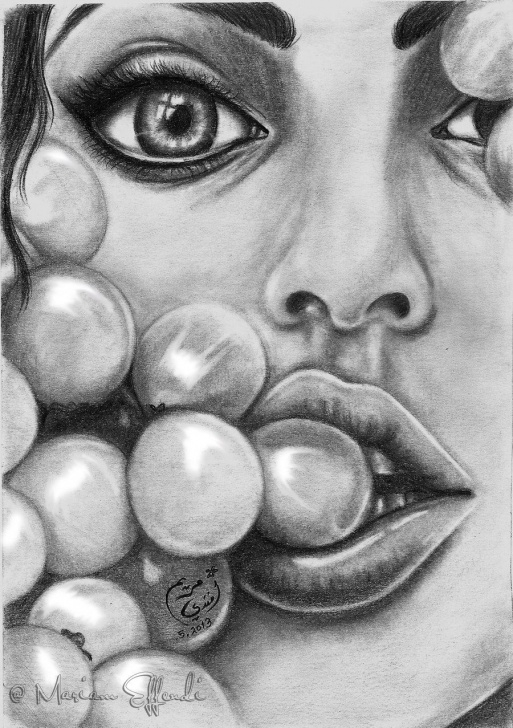 Best Crazy Pencil Drawings Tutorials Re-Drawing . Crazy About Grapes By Mirioom.deviantart On Picture