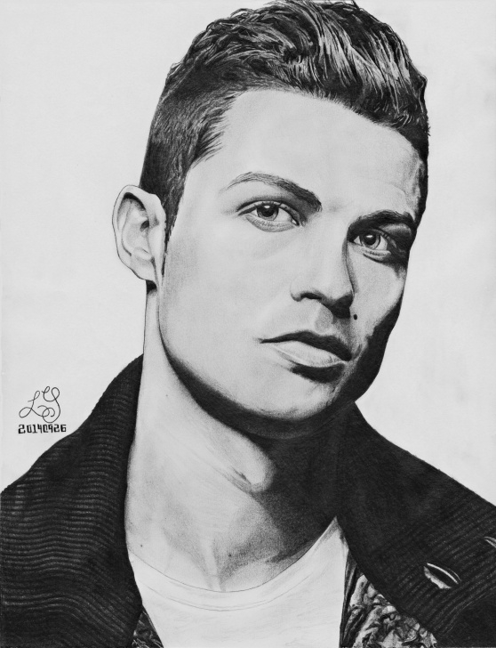 Best Cristiano Ronaldo Pencil Drawing for Beginners Cristiano Ronaldo Illustration #cristiano #ronaldo #cristianoronaldo Image