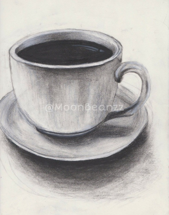 Best Cup And Saucer Pencil Drawing Ideas Teacup Sketch By Moonbeanzz.deviantart On @deviantart | Crafts Image