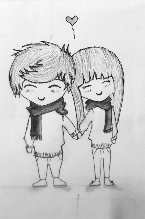 Best Cute Couple Sketches To Draw Lessons Cartoon Couple Sketch At Paintingvalley | Explore Collection Of Image