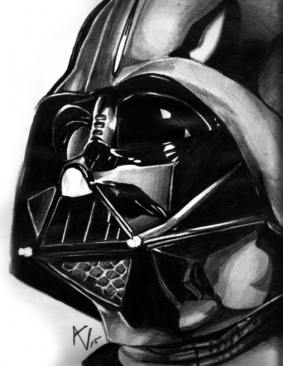 Best Darth Vader Pencil Drawing for Beginners Darth Vader Pencil Drawing By Alice V. Falto | Drawing | Pencil Images