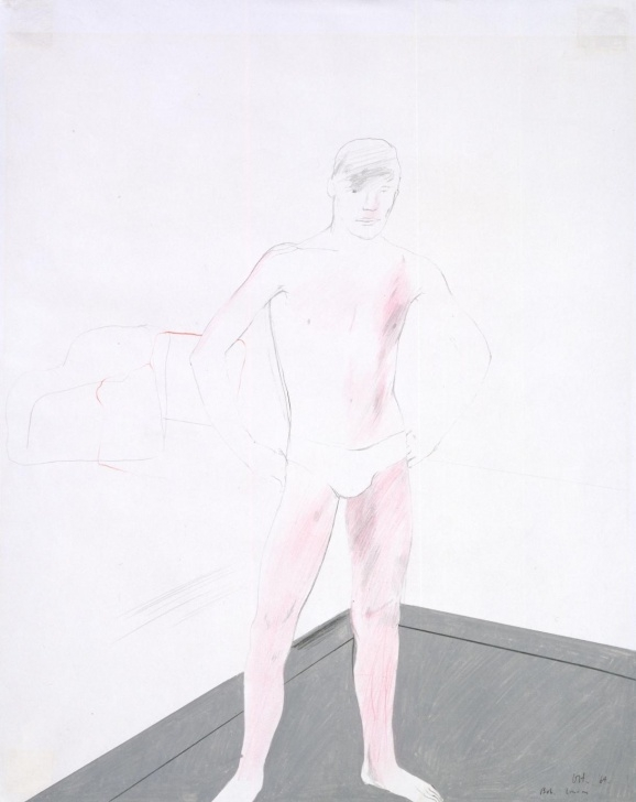 Best David Hockney Pencil Drawings Techniques for Beginners Bob, London', David Hockney, 1964 | Tate Pic