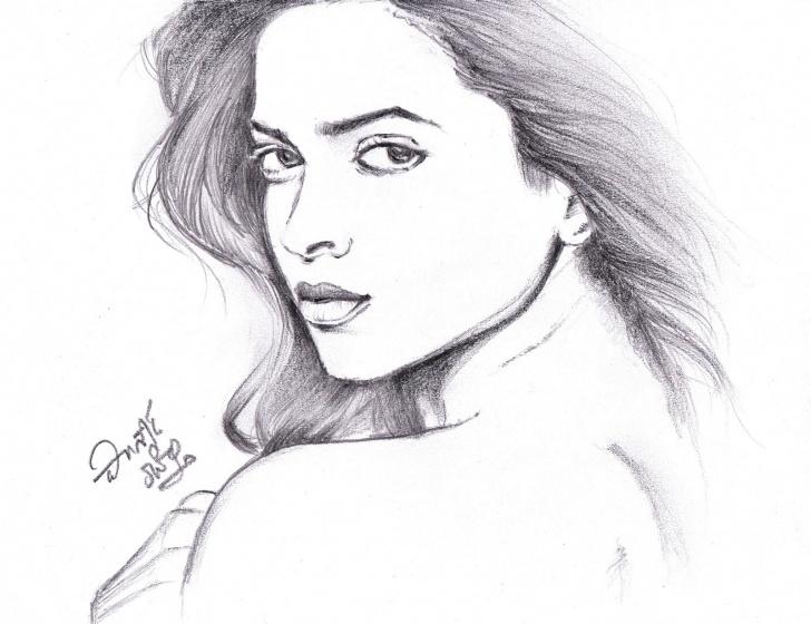 Best Deepika Padukone Pencil Drawing Courses I Love Movies: Deepika Padukone - Pencil Sketch Image