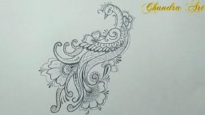 Best Design Pencil Sketch Techniques for Beginners Cool Easy Pencil Drawing - How To Draw A Beautiful Design Peacock Picture