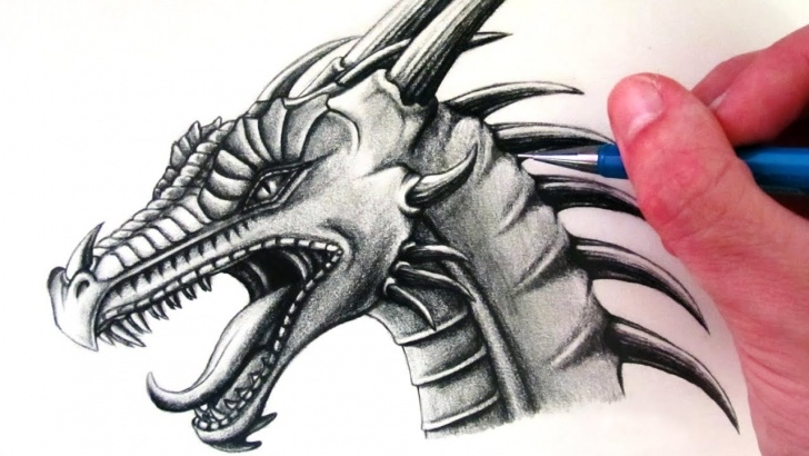Best Dragon Pencil Sketch Easy How To Draw A Dragon Head Photo