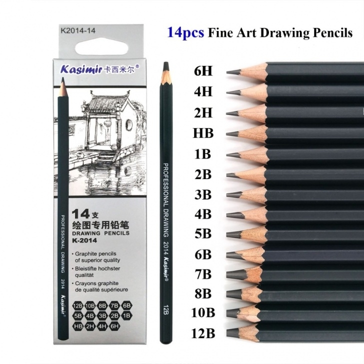 Best Drawing Pencil Hardness Techniques for Beginners Best Quality 14Pcs/set 12B 10B 8B 7B 6B 5B 4B 3B 2B B Hb 2H 4H 6H Graphite  Sketching Pencils Professional Pencil Set For Drawing Pictures