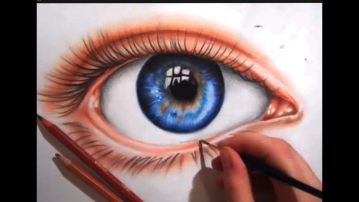 Best Eye Color Pencil Drawing Ideas Drawing An Eye Using Colored Pencils Photo