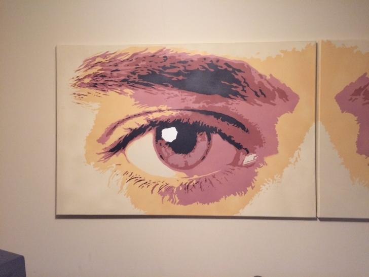 """Best Eye Stencil Art Tutorials Eye Stencils - Spray Paint On 36"""" X 24"""" Canvas - Corrected - Album Photos"""