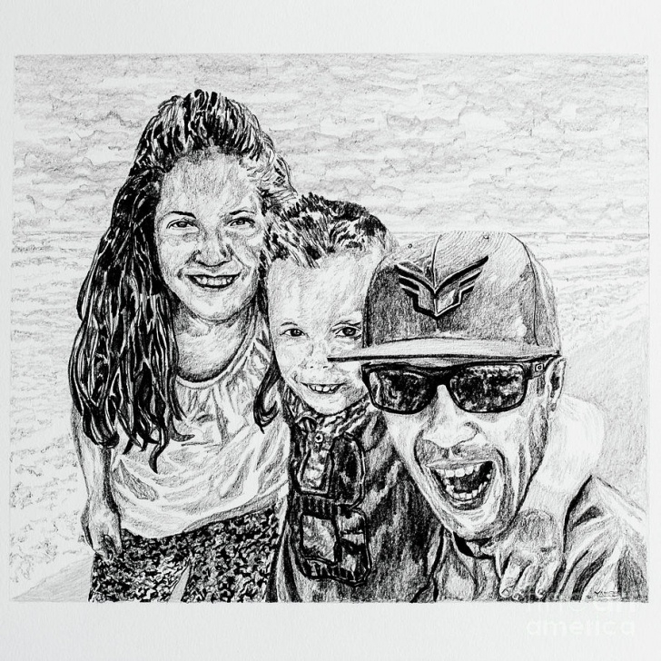 Best Family Pencil Drawing for Beginners Family Portrait In Pencil By Robert Yaeger Pictures