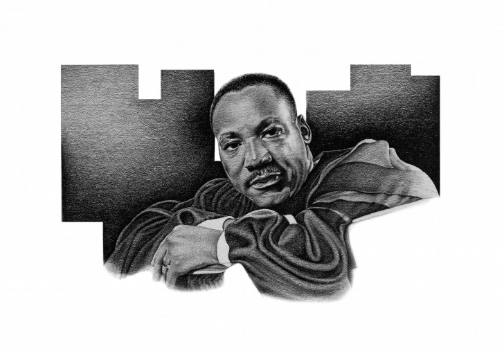 Best Famous Pencil Drawing Artists Tutorials Pencil #drawing #print Of Dr. #martin #luther #king Jr., By World Images