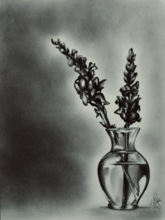 Best Flower Vase Pencil Drawing Tutorials Pencil #drawing #realistic #flowers #vase | Pencil Sketch In 2019 Image