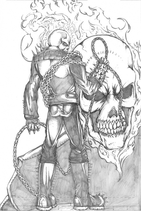 Ghost Rider Drawings In Pencil