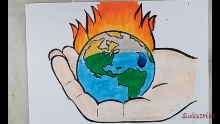 Best Global Warming Pencil Sketches Ideas Drawing Of Global Warming | Artistica Picture