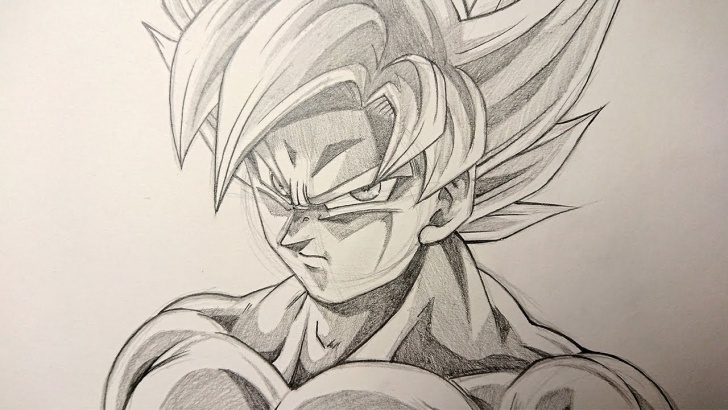 Best Goku Pencil Drawing for Beginners Asmr | Pencil Drawing | Goku Mastered Ultra Instinct - 1 Hour Time Limit Photo