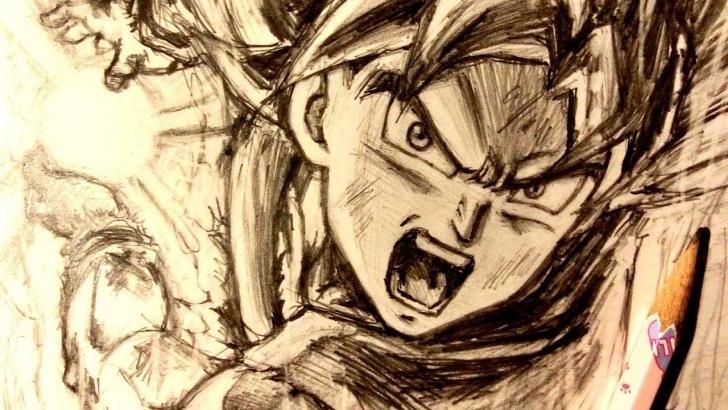 Best Goku Pencil Sketch Ideas Asmr | Pencil Drawing 98 | Ultra Instinct Goku (Request) Pic