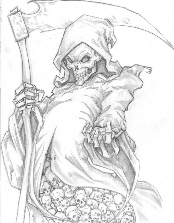Best Grim Reaper Drawings In Pencil Step by Step The Only Thing I Would Change Is Having His Middle Finger Up Pics