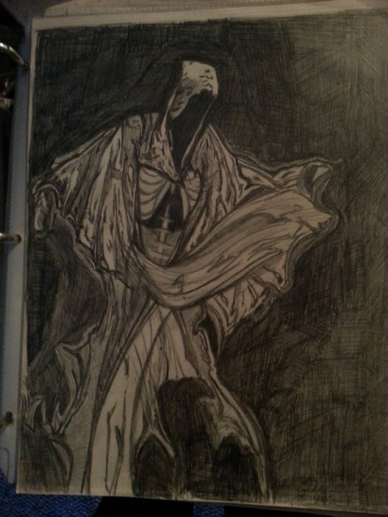 Best Grim Reaper Drawings In Pencil Techniques for Beginners Black And White Grim Reaper Original Drawing In Pencil/hooded Cloak Picture
