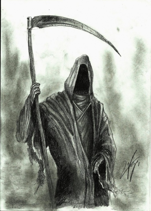 Best Grim Reaper Drawings In Pencil Tutorials Grim Reaper Sketch At Paintingvalley | Explore Collection Of Images