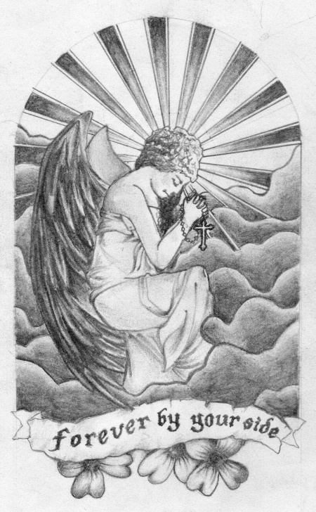 Best Guardian Angel Pencil Drawings Lessons Guardian Angel Tattoo #tattoo #pencil #angel #art #drawing Pics