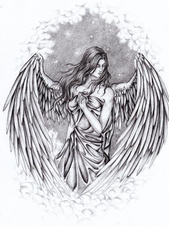 Guardian Angel Pencil Drawings