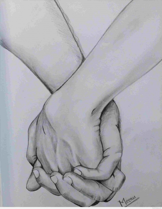 Best Hand Pencil Drawing Easy Pencil Sketch Of Holding Hands Pic