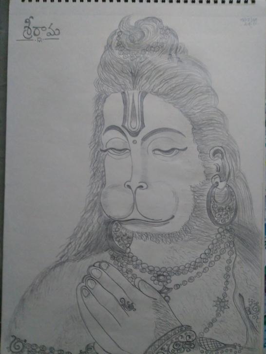 Best Hanuman Pencil Sketch Tutorials Lord Hanuman - Pencil Drawing | Pencil Drawings Of Gods | Pencil Pics