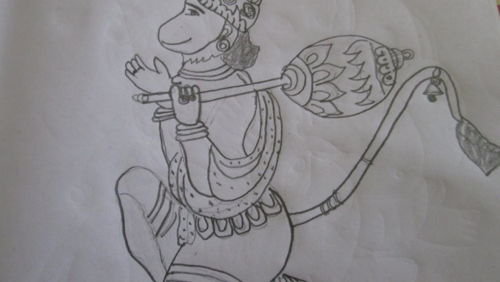 Best Hanuman Sketches Pencil Lessons Hanuman Ji Pencil Sketch And Hanuman Pencil Sketch Lord Hanuman Photo