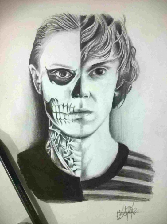 Best Horror Pencil Drawings Free Art-In-Rhpinterestcom-Dark-Colored-Drawing-Black-And-White Pics
