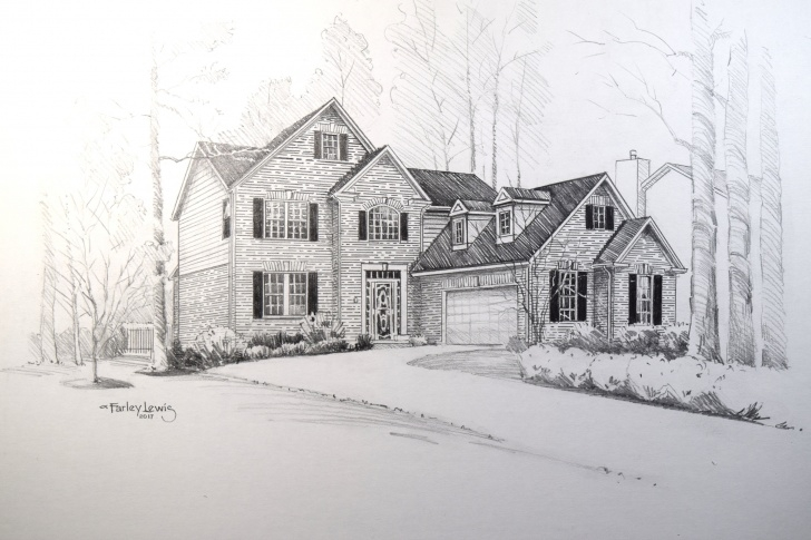"Best House Drawing Pencil Free Custom House Portrait, 11""x14"" Pencil House Drawing, Gift Idea, Original  Home Portrait, Realtor Gift, Personalized Gift, Pictures"