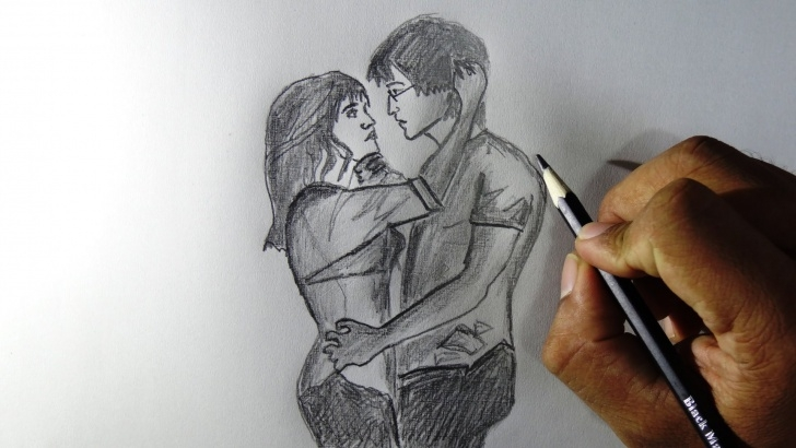 Best Hug Pencil Sketch Free Love Painting Pencil How To Draw Couples In Love Pencil - Girl Boy Images