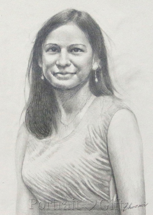Best Indian Pencil Drawing Tutorial Indian Lady Wearing Sari Pencil Sketch - Portrait Gift Pic