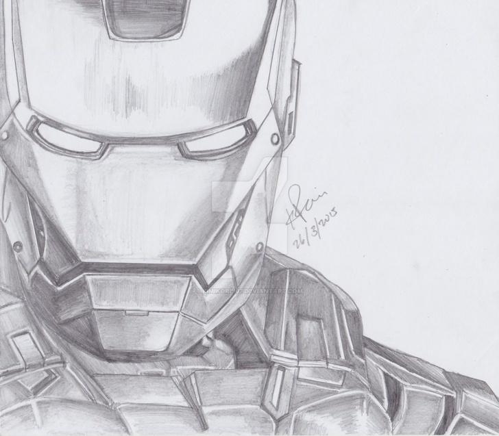 Best Iron Man Pencil Art Tutorial Iron Man Pencil Drawing By Kimikorei07 On Deviantart Photos