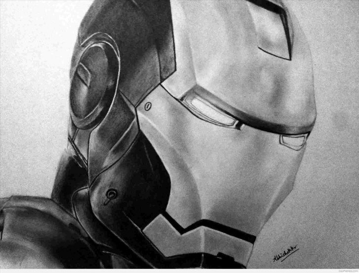 Best Iron Man Pencil Sketch Tutorial Iron Iron Man Pencil Sketch Man Avengers Original Pencil Drawing Image