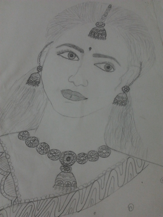 Best Lady Pencil Sketch Courses Pencil Sketch Of Indian Lady | Desipainters Photos