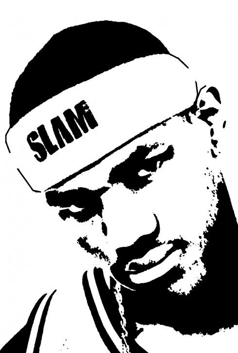 Lebron James Stencil Art