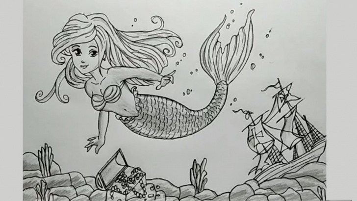 Best Mermaid Pencil Drawings Lessons How To Draw A Mermaid | Pencil Sketch Drawing Tutorial For Beginners Pic