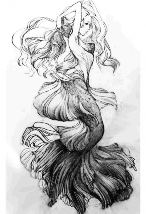 Best Mermaid Pencil Sketch Tutorials Pencil Drawings Of Beautiful Mermaids Picture