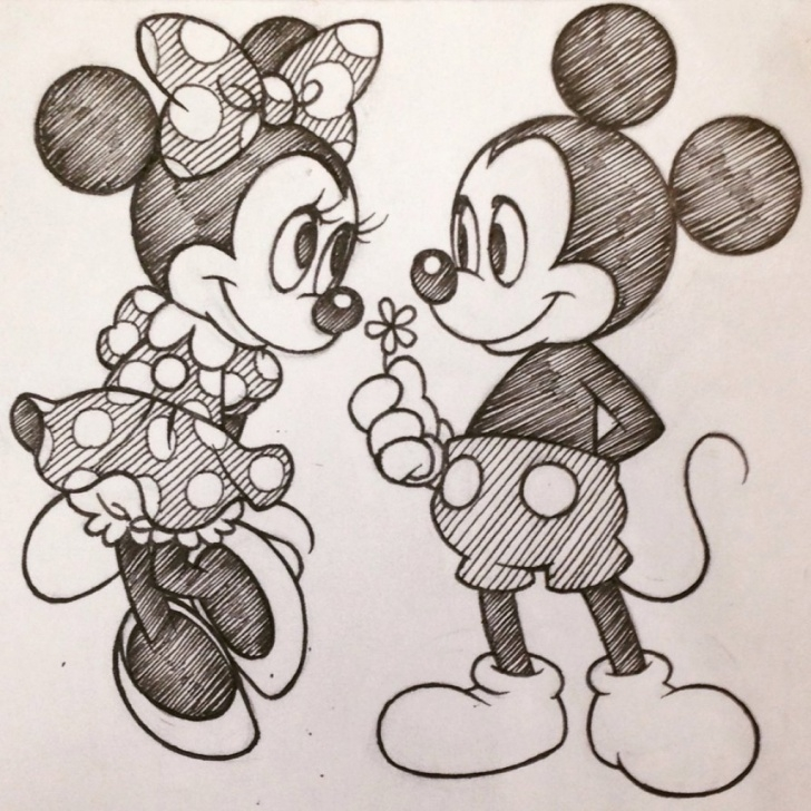 Best Mickey Mouse Pencil Sketch Simple Mouse Pencil Sketch At Paintingvalley | Explore Collection Of Pictures