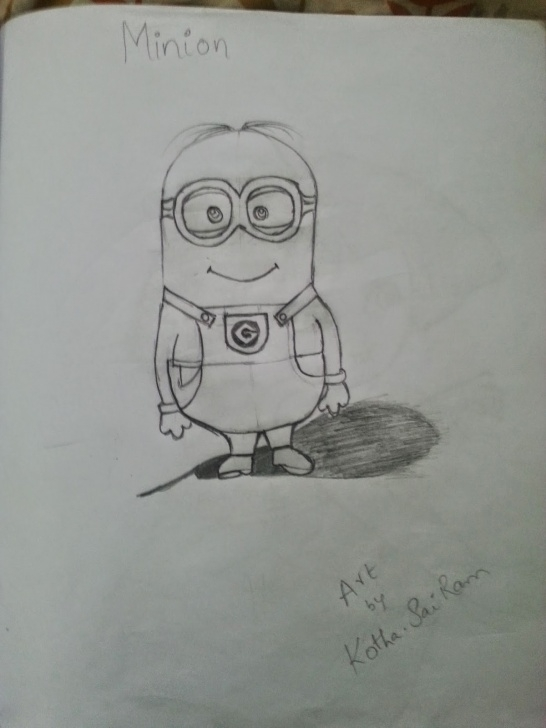 Best Minion Pencil Sketch Free Sairam Sketches Pictures