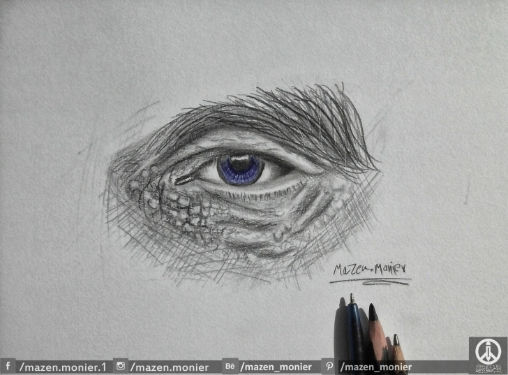 Best Normal Pencil Sketch Courses Eye Drawing With Pencil And Normal Pen | Drawings | Pencil Drawings Photos