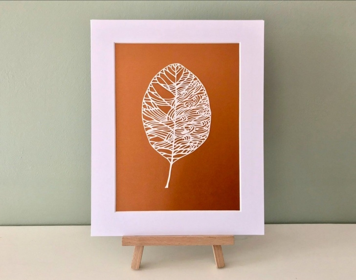 Best Pencil Cutting Art Courses Sail Boat On Waves. Papercut Leaf Artwork Whimsical Paper Cutting Photos