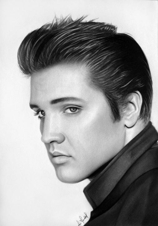 Best Pencil Drawing Of Elvis Presley Tutorials Elvis Presley Pencil Sketch And Elvis Presley Por Anokaxlegolas Picture