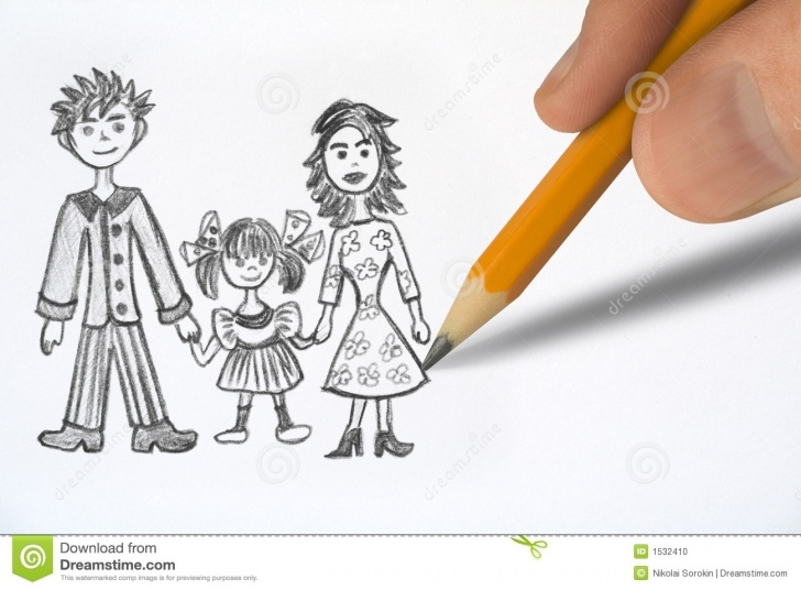 Best Pencil Drawings Of Happy Family Free Happy Family Stock Photo. Image Of Baby, Family, Adult - 1532410 Photos