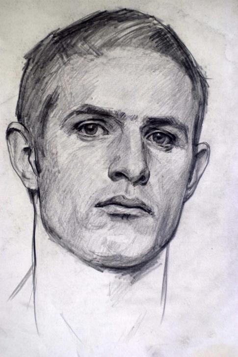 Best Pencil Self Portrait Courses Self Portrait' Robert Hannaford, 1981. Pencil On Paper. | Art | Art Photos