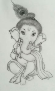 Best Pencil Sketch Cost Tutorial Sri Ganesha Pencil Sketch.. | Sri Ganesh Art | Ganesha Sketch Photos