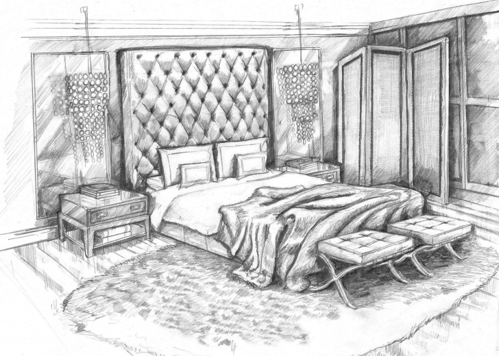 Best Pencil Sketch Of A Bedroom Techniques for Beginners 11+ Interior Design Pencil Drawing - Pencil Drawing - Drawing Sketch Image