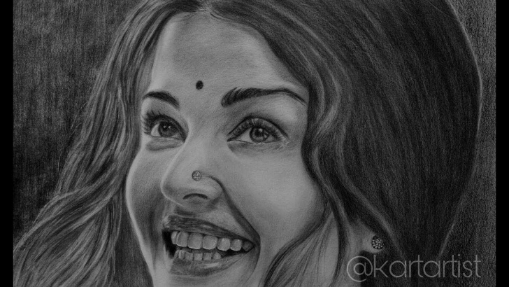 Best Pencil Sketch Of Aishwarya Rai Courses Drawing Realistic Pencil Sketch Of Aishwarya Rai Photos