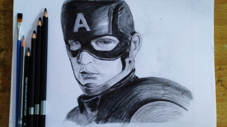 Best Pencil Sketch Of Captain America Free Captain America Pencil Drawing | Avengers End Game Pic