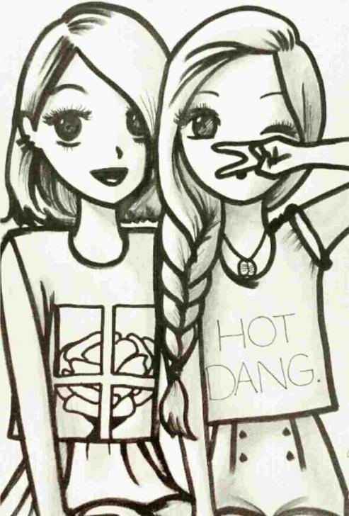 Best Pencil Sketch Of Friendship Tutorials Pencil Drawings Of Friendship | Drawing Work Pictures